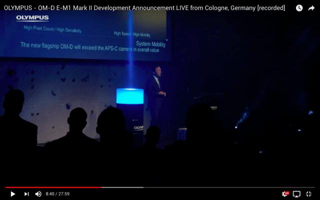 Pressekonferenz und Produktvorstellung - Livestream aus Köln für Olympus Deutschland - Unveiling