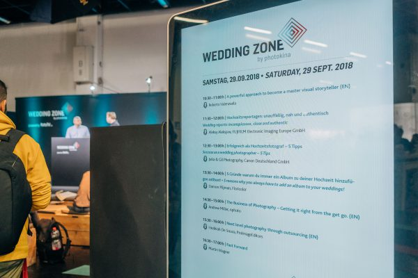 Livestream von der Messe - Wedding Zone auf der photokina in Köln - Videoproduktion - Vortragsplan