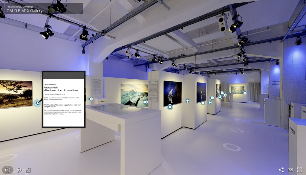 Olympus OM-D E-M1X Livestream Virtuelle Galerie und Rundgang